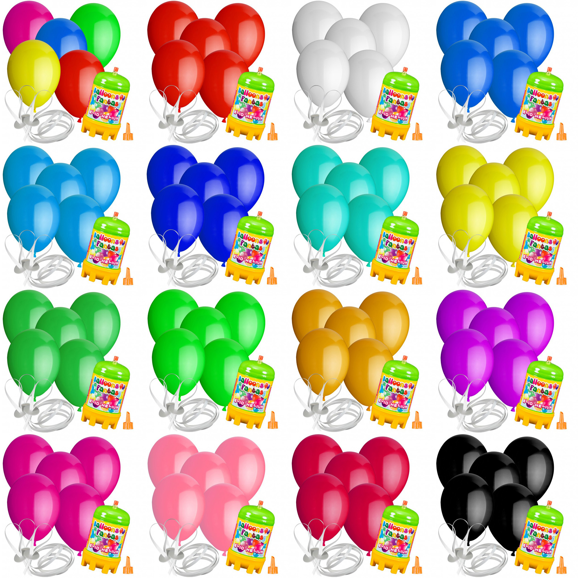 10 luftballons 30 cm mit helium ballon gas hochzeit geburtstag komplettset ebay. Black Bedroom Furniture Sets. Home Design Ideas