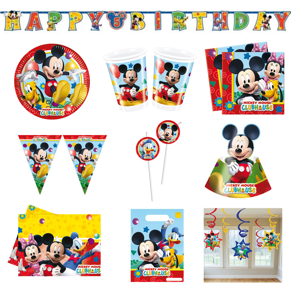 disney mickey mouse wunderhaus micky maus party set geburtstag deko set neu ebay. Black Bedroom Furniture Sets. Home Design Ideas